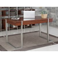 Nora Writing Desk in Brown/Silver