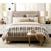 Rachel Ray™ 3-Piece Queen Flat Iron Comforter Set in Blue/Cream