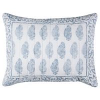 Rizzy Home Charlotte Floral Standard Pillow Sham in Blue