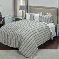 Rizzy Home Vincent III King Duvet Cover in Natural