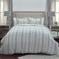 Rizzy Home Terrance Stripe Queen Duvet Cover in Natural