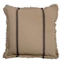 Bee & Willow™ Home Striped Linen Square Throw Pillow in Natural