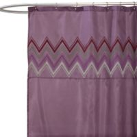 Myra Plum Fabric Shower Curtain