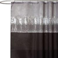 Night Sky Black and Grey 72-Inch x 72-Inch Shower Curtain