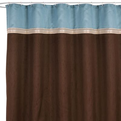Terra Blue 72 Inch x 72 Inch Fabric Shower CurtainBuy Blue Brown Shower Curtain Fabric from Bed Bath   Beyond. Brown And Turquoise Shower Curtain. Home Design Ideas