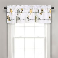 Rowley Birds Rod Pocket Ruched Window Valance in Yellow