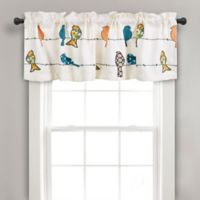 Rowley Birds Rod Pocket Ruched Window Valance