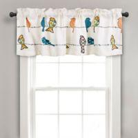 Rowley Birds Rod Pocket Ruched Window Valance