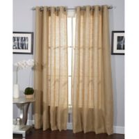 Burlap 84-Inch Grommet Window Curtain Panel in Natural