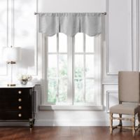 Waterford® Lucida Lace Pleated Valance in Grey