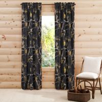 Realtree® Camo 84-Inch Rod Pocket Window Curtain Panel Pair in Black