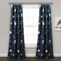 Universe 84-Inch Rod Pocket Room Darkening Window Curtain Panel Pair in Navy