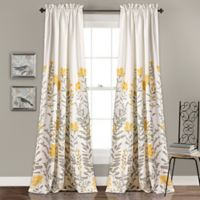 Aprile 84-Inch Rod Pocket Room Darkening Window Curtain Panel Pair in Yellow