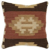 Rizzy Home Chevron Medallion Square Indoor/Outdoor Throw Pillow in Beige/Brown