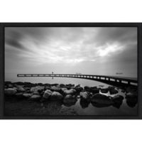 Amanti Art® Murat Kasim Coastal 1.88-Inch x 16-Inch Framed Canvas in Black