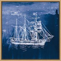 Amanti Art® Wild Apple Portfolio Beachy 22-Inch Square Framed Canvas in Maple