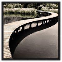 Amanti Art® Water Walkway Canvas Wall Art in Black