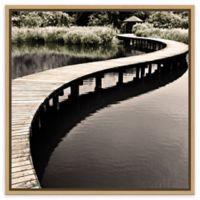 Amanti Art® Water Walkway Canvas Wall Art in Maple