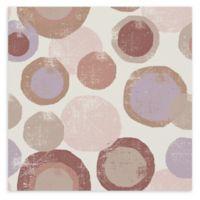 Trademark Fine Art Wild Apple Portfolio Circles Archroma 14-Inch Canvas Wall Art in White/Tan