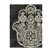 Trademark Fine Art Hamsa II 14-Inch x 19-Inch Canvas Wall Art