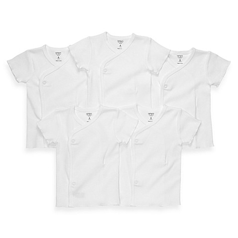 carter's® 5-Pack Size 3 Months White Side-Snap Undershirts