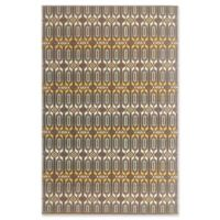 Mad Mats®® Moroccan 4' X 6' Flat-weave Area Rug in Brown