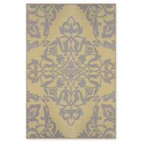 Mad Mats®® New Wrought Iron 4' X 6' Flat-weave Area Rug in Soft Gold