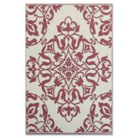 Mad Mats®® New Wrought Iron 4' X 6' Flat-weave Area Rug in Deep Red
