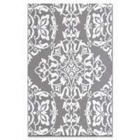 Mad Mats®® New Wrought Iron 4' X 6' Flat-weave Area Rug in Silver