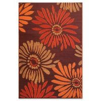 Mad Mats®® Daisy 6' X 9' Flat-weave Area Rug in Rust