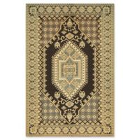 Mad Mats®® Oriental Turkish 4' X 6' Flat-weave Area Rug in Brown/black