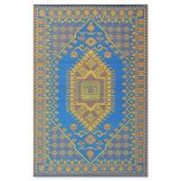 Mad Mats®® Oriental Turkish 4' X 6' Flat-weave Area Rug in Blue