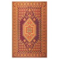 Mad Mats®® Oriental Turkish 4' X 6' Flat-weave Area Rug in Rust