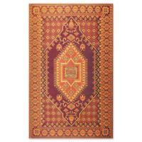 Mad Mats®® Oriental Turkish 6' X 9' Flat-weave Area Rug in Rust