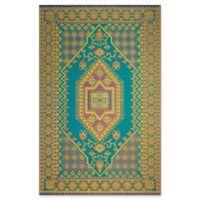 Mad Mats®® Oriental Turkish 6' X 9' Flat-weave Area Rug in Aqua