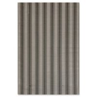 Mad Mats® Vertical Stripes 4' X 6' Flat-weave Area Rug in Beige