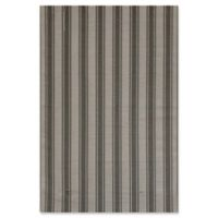 Mad Mats®® Vertical Stripes 5' X 8' Flat-weave Area Rug in Beige