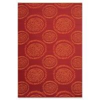 Mad Mats®® Molly 4' X 6' Flat-weave Area Rug in Red
