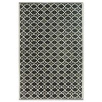 Mad Mats®® Scotch 4' X 6' Flat-weave Area Rug in Black/white