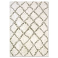 "Dynamic® Turku 7'5"" X 10'6"" Powerloomed Area Rug in White/silver"