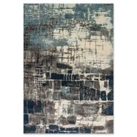 "Dynamic® Evolve 5'3"" X 7'7"" Powerloomed Area Rug in Grey/blue"