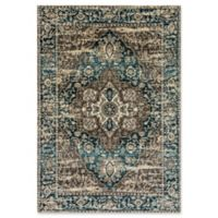 "Dynamic® Medallion 7'10"" X 10'10"" Powerloomed Area Rug in Grey/blue"