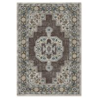 "Dynamic® Heriz 5'3"" X 7'7"" Powerloomed Area Rug in Grey"