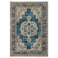 "Dynamic® Heriz 5'3"" X 7'7"" Powerloomed Area Rug in Blue/multi"