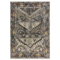 "Dynamic® Tribal 5'3"" X 7'7"" Powerloomed Area Rug in Grey"