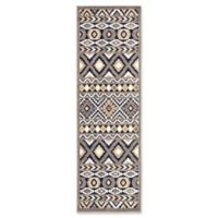 Jaipur Belize Irona 2'6 x 8' Indoor/Outdoor Runner in Grey/Multi