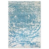 "Dynamic® Galaxy 5'3"" X 7'7"" Powerloomed Area Rug in Aqua/blue"