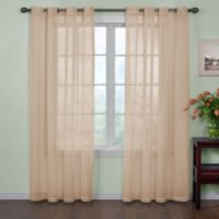 Arm and Hammer™ Curtain Fresh™ Odor Neutralizing 108-Inch Sheer Curtain Panel in Latte