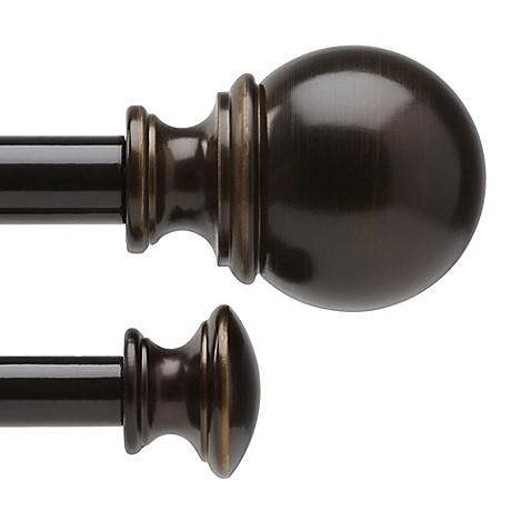 umbra vale darjeeling bronze drapery rod set
