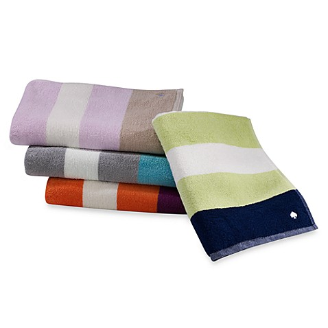Kate spade new york ivy stripe towels 100 cotton bed for Bed bath and beyond kate spade